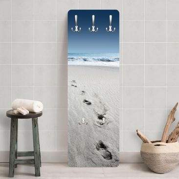 Product picture Coat Rack - Footprints in the sand...