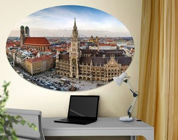 Product picture Canvas Art Oval City of Munich
