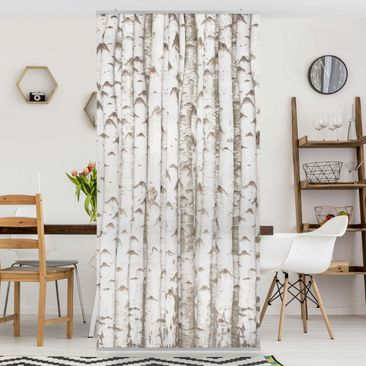Product picture Panel Curtain No.YK15 birch wall...