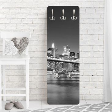 Product picture Coat Rack - Nighttime Manhattan Bridge...