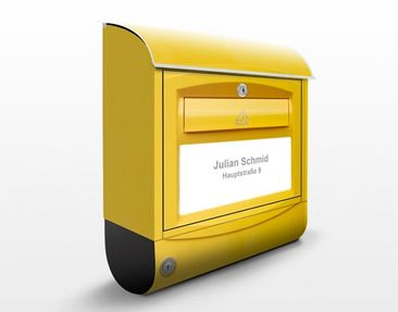 Produktfoto Briefkasten mit Wunschtext - Briefkasten in der Schweiz - mit eigenem Text & Hausnummer