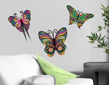 Product picture Wall Decal no.BP23 Mandala Butterflies