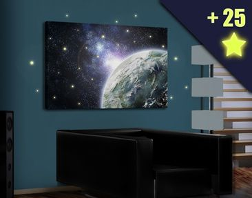 Product picture Canvas Art Galaxy Light inclusive 25...