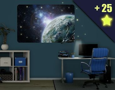 Produktfoto Wall Mural Galaxy Light inclusive 25...