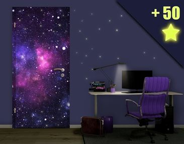 Product picture Door Photo Wall Mural Galaxy inclusive...