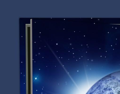 Produktfoto Türtapete Weltkarte - Erde im Weltall - inklusive 50 Wandtattoo Leuchtsterne