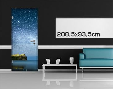 Product picture Door Photo Wall Mural Starry Sky...