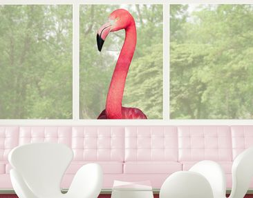 Product picture Window Sticker no.YK22 Prying Flamingo