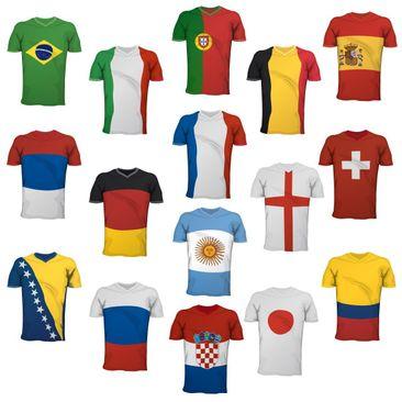 Produktfoto Wandtattoo Fußball - Fußball Trikots Sticker Set