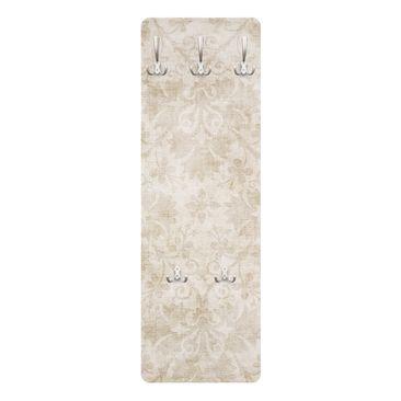 Produktfoto Garderobe - Antiker Damast - Weiß Beige