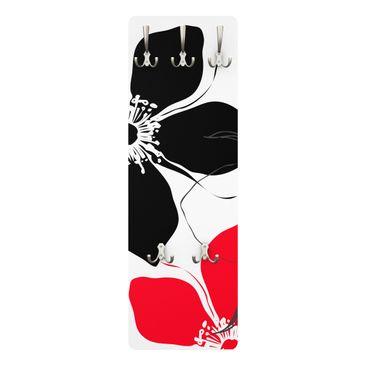 Produktfoto Garderobe - Blümchen Bara - Weiß Rot...