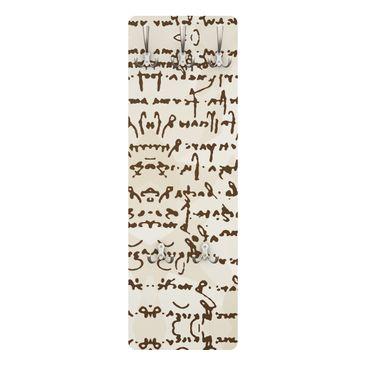 Immagine del prodotto Appendiabiti - Manoscritto di Da Vinci - Bianco Beige