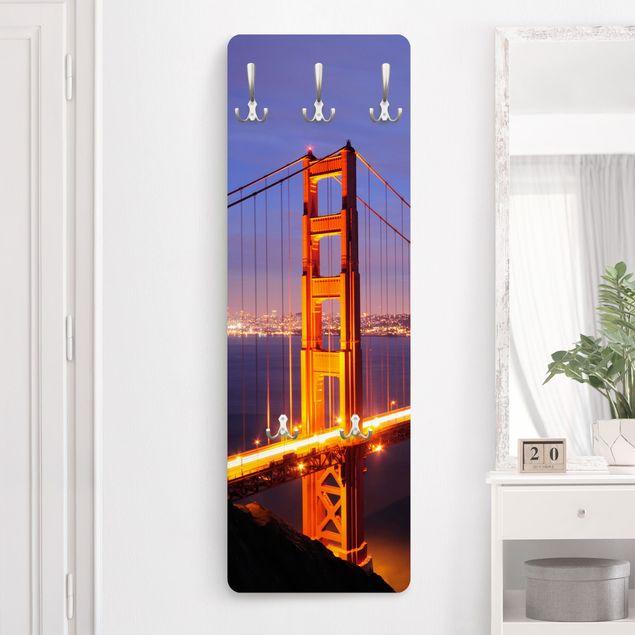 Produktfoto Garderobe San Fancisco - Golden Gate Bridge bei Nacht