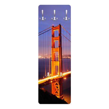 Immagine del prodotto Appendiabiti - Golden Gate Bridge at night 139x46x2cm