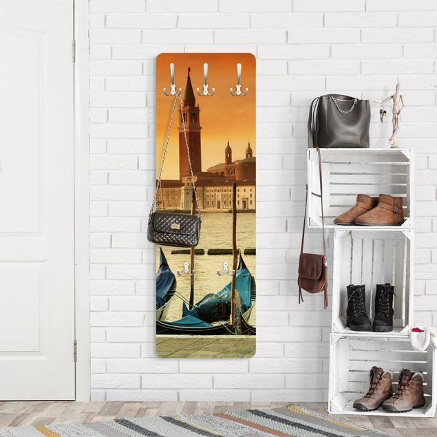 Produktfoto Garderobe - Gondeln in Venedig - Orange