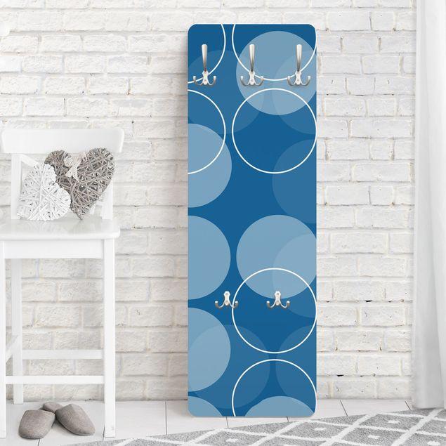 Produktfoto Garderobe Punktemuster - In Orbit - Blau