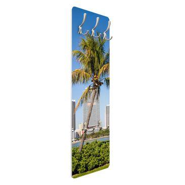 Product picture Coat Rack - Miami Beach Skyline...