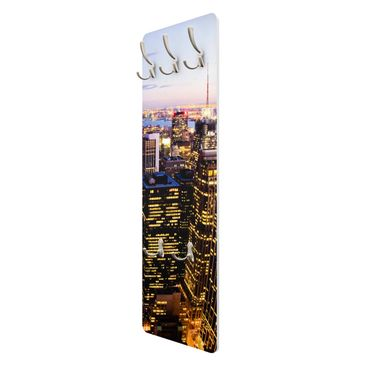 Product picture Coat Rack - New York skyline at night...