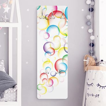 Product picture Coat Rack - Rainbow Bubbles 139x46x2cm