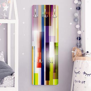 Product picture Coat Rack - Rainbow Cubes 139x46x2cm