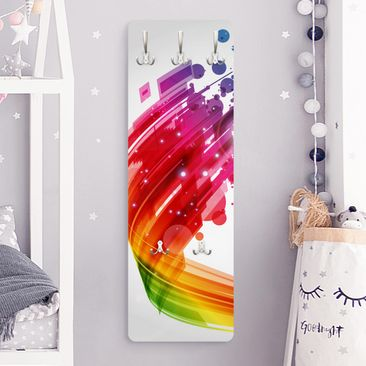 Product picture Coat Rack - Rainbow Wave and Bubbles...