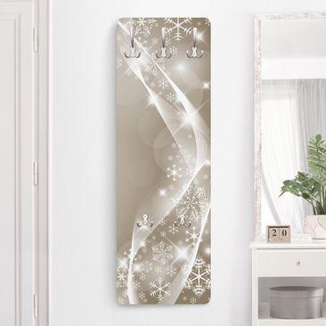 Immagine del prodotto Appendiabiti di design - Il luccichio della neve - Beige