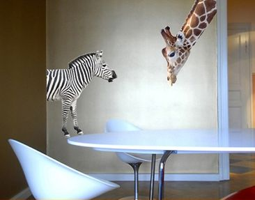 Product picture Wall Decal no.307 Giraffe+Zebra