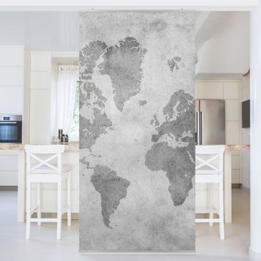 Product picture Panel Curtain Vintage World Map II...