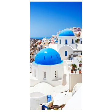 Product picture Panel Curtain View Over Santorini...