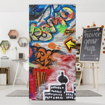 Product picture Panel Curtain Urban Graffiti 250x120cm