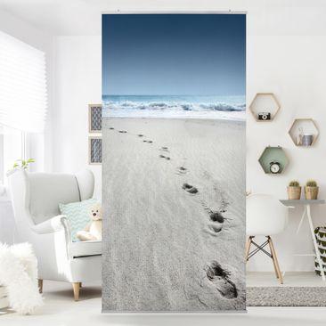 Produktfoto Raumteiler - Spuren im Sand 250x120cm