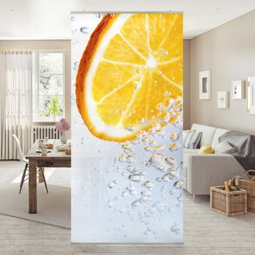 Produktfoto Raumteiler - Splash Orange 250x120cm