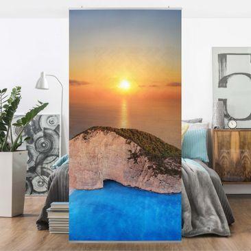Produktfoto Raumteiler - Sonnenuntergang über Zakynathos 250x120cm
