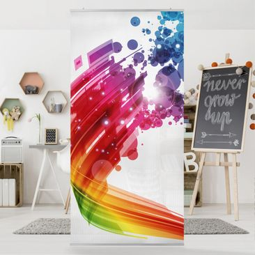 Product picture Panel Curtain Rainbow Wave and Bubbles...