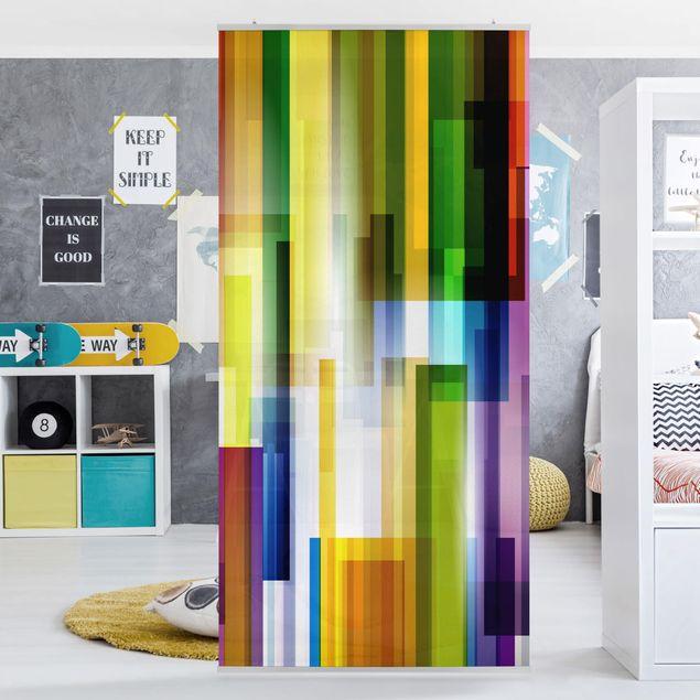 Produktfoto Raumteiler Kinderzimmer - Rainbow Cubes 250x120cm