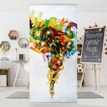 Produktfoto Raumteiler - Rainbow Alphabet 250x120cm