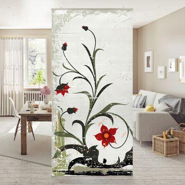 Produktfoto Raumteiler - Pale Flower 250x120cm
