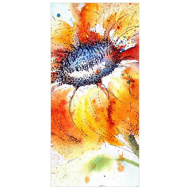 Produktfoto Raumteiler - Painted Sunflower 250x120cm
