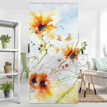 Produktfoto Panel Curtain Painted Flowers 250x120cm