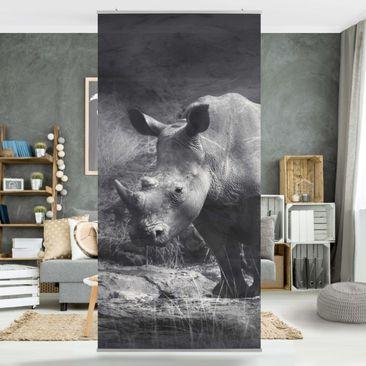Produktfoto Raumteiler - Lonesome Rhinoceros 250x120cm
