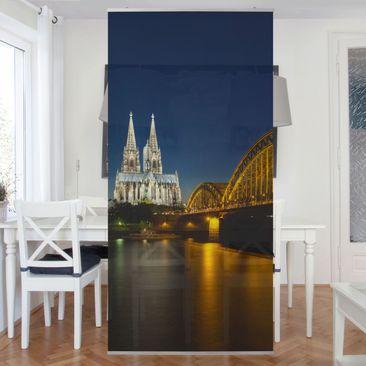 Produktfoto Raumteiler - Köln bei Nacht 250x120cm
