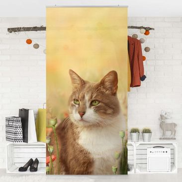 Immagine del prodotto Tenda a pannello Cat in the Poppy Field 250x120cm