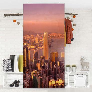 Produktfoto Raumteiler - Hongkong Sunset 250x120cm