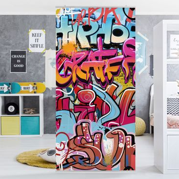 Product picture Panel Curtain HipHop Graffiti 250x120cm