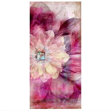 Product picture Panel Curtain Grunge Flower 250x120cm
