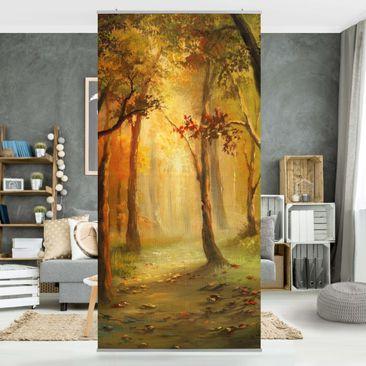 Produktfoto Raumteiler - Gemälde einer Waldlichtung 250x120cm