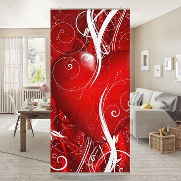 Produktfoto Raumteiler - Floral Heart 250x120cm