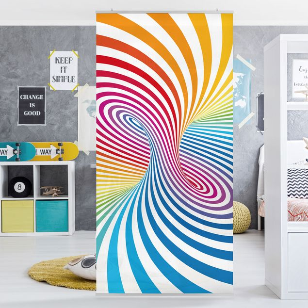 Produktfoto Raumteiler Kinderzimmer - Farbtornado 250x120cm