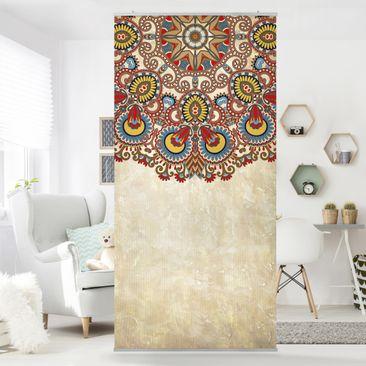 Produktfoto Raumteiler - Farbiges Mandala 250x120cm