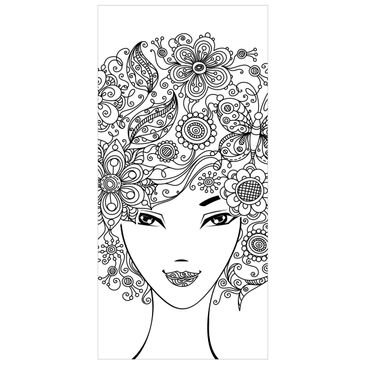 Product picture Panel Curtain Flowers in the Hair...